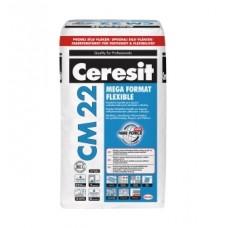 Клей для крупноформатной плитки Ceresit CM 22 MEGA FORMAT FLEXIBLE, 25кг