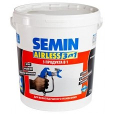 SEMIN AIRLESS 3 IN 1 / АИРЛЕСС 3 В 1, грунт-шпатлевка-краска, 25 кг