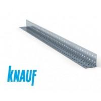 Угол перфорированный алюминиевый Knauf 25*25*0.4мм, длинна 3 метра