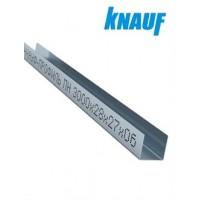 Профиль для гипсокартона Кнауф UD 28/27 толщина 0,6 мм, 3 метра