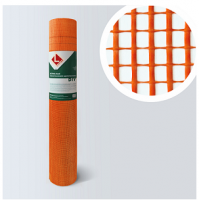 Сетка штукатурная фасадная LIHTAR оранжевая, ССШ 160,  50 м2