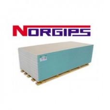 Гипсокартон влагостойкий стеновой NORGIPS 2,5*1,2м*12,5 мм Польша