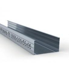 Профиль для гипсокартона стоечный CW 100/50, толщ. 0,6мм, 3 метра