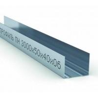 Профиль для гипсокартона направляющий UW 50/40, толщ. 0,6мм, 3 метра