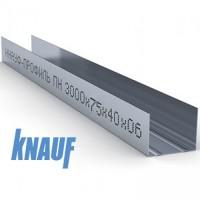 Профиль для гипсокартона KNAUF направляющий UW 75/40, толщ. 0,6 мм, 3 метра