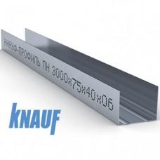 Профиль для гипсокартона KNAUF направляющий UW 75/40, толщ. 0,6 мм, 3 м