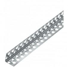 Угол перфорированный алюминиевый 25*25, длина 2,5 метра
