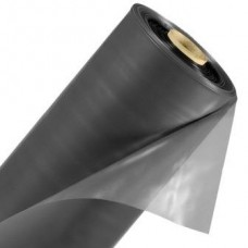 Пленка вторичная, черная под стяжку 200 мкм, шир. 3 метра