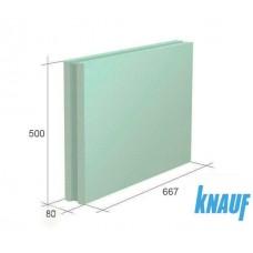 Плита пазогребневая влагостойкая KNAUF 667*500*80, РБ