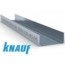 Профиль для гипсокартона KNAUF направляющий UW 100/40, толщ. 0,6мм, 3 м