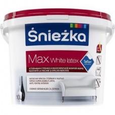 Краска акриловая SNIEZKA MAX WHITE LATEX 10 литров