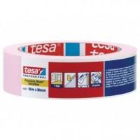 TESA №4333, 50м*30мм, Малярная лента розовая для деликатных поверхностей.