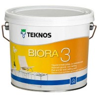 Матовая краска для потолка Teknos Biora 3, 2.7 литра