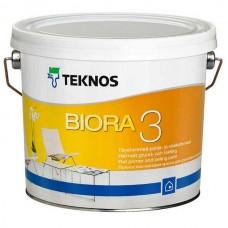 Матовая краска для потолка Teknos Biora 3, 9.0 литров