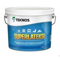 Специальная матовая краска TEKNOS SUPERLATEKSI, 2.7 литра