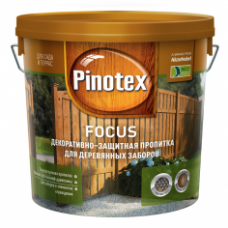 Декоративно-защитная пропитка Pinotex Focus, 10 литров