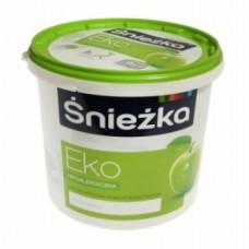 Краска акриловая Sniezka ECO, белая 10 литров