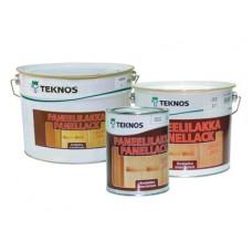 Лак для дерева TEKNOS PANEELILAKKA полуматовый, 9 литров