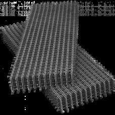 Сетка сварная черная в картах 100*100 Эконом