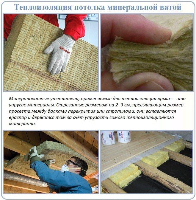 как утепліть холодный потолок в доме фото