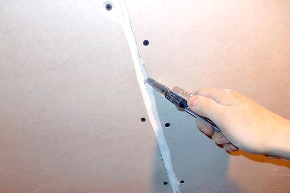 отделка стен гипсокартоном на клей