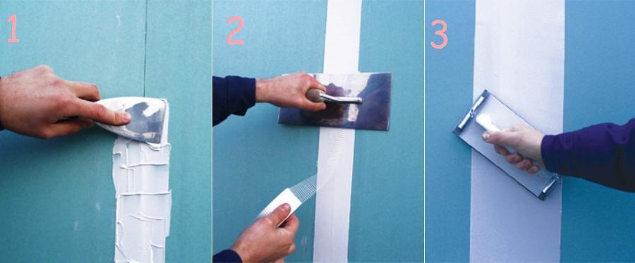 как сделать потолок из гипсокартона лента для стыков